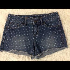 LC Lauren Conrad Polkadots Denim Cut Off Shorts